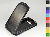 Откидной чехол из натуральной кожи для Samsung J100H Galaxy J1