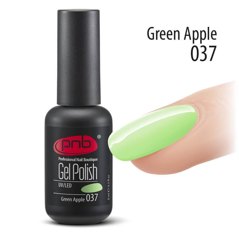 Гель-лак PNB 037 Green Apple, 8 мл