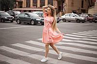 Летнее платье очень нежного цвета