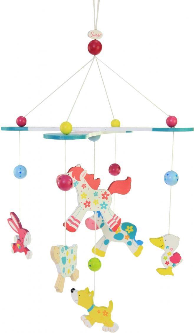 Деревянный мобайл для маленьких детей Susibelle Зверушки 52906