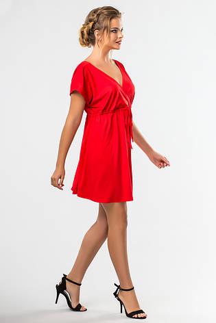 79d787ed927 Красное платье до колена с запахом и коротким рукавом - купить по ...
