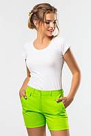 Летние женские шорты с оригинальными карманами салатовые
