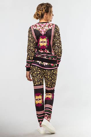 Нарядный женский костюм с модным принтом Композиция, фото 2
