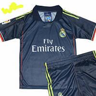 Детско-подростковая (7-15 лет) футбольная форма ''Роналду''-ФК ''Реал'' (Мадрид)- темно-синяя, гостевая