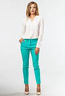 Стильные женские зауженные брюки классические Мятные