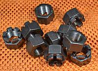 Гайка М4 ГОСТ 5918, DIN 935 корончатая, прорезная