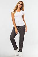 Спортивные женские брюки с защипами цвет антрацит