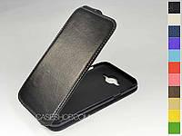 Откидной чехол из натуральной кожи для Samsung J500H Galaxy J5