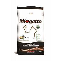 Miogatto Senior корм для пожилых кошек с лососем и рисом, 1.5 кг