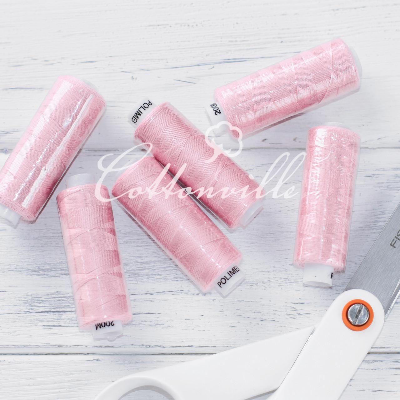 Нитки швейные 40s/2 (200 м) цвет нежно-розовый