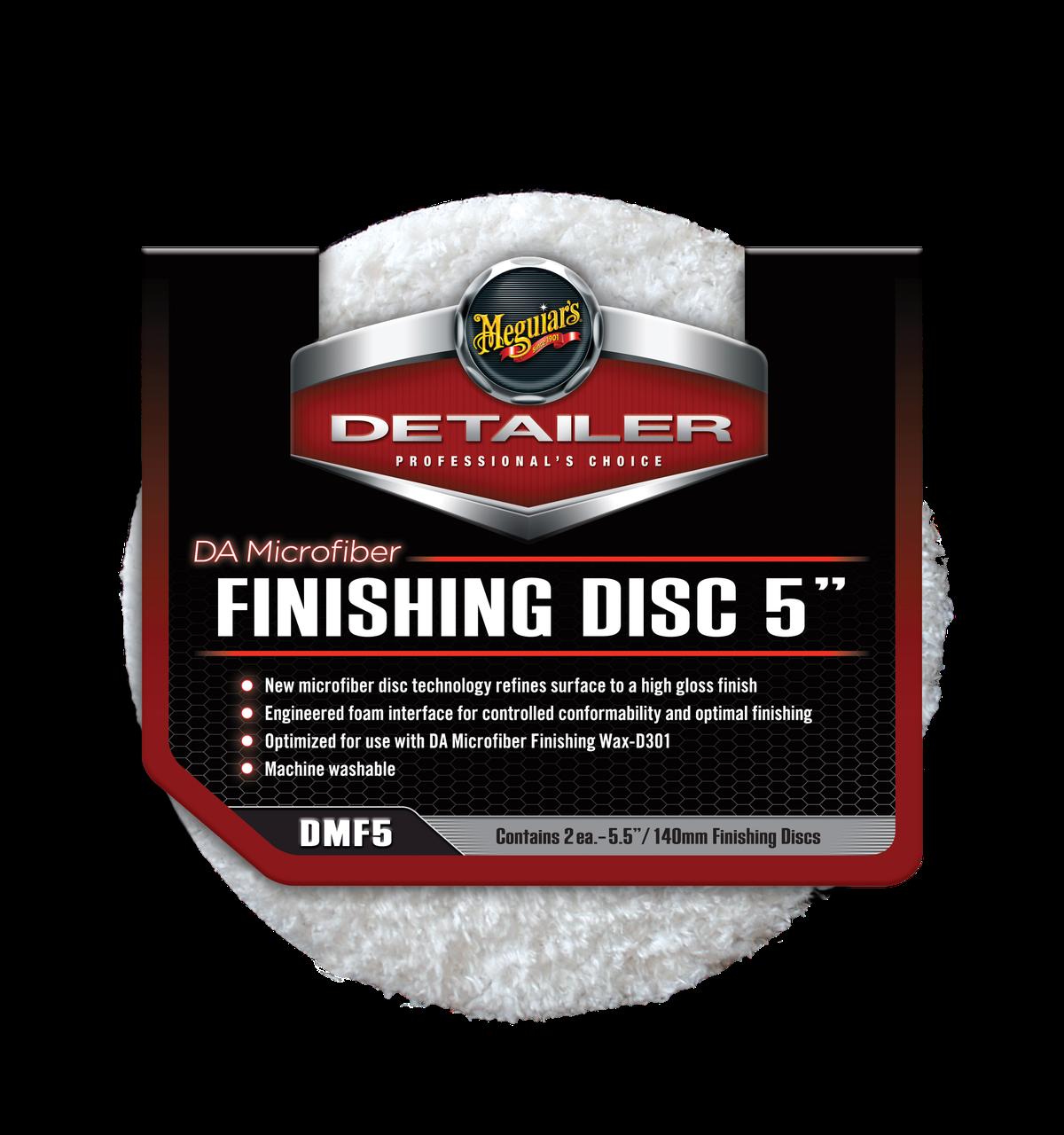 """Полировальный круг микрофибровый финишный - Meguiar's DA Microfiber Finishing Disc 5"""" 127 мм. белый (DMF5)"""