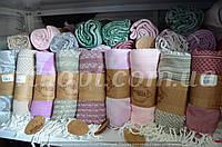 Пляжное полотенце покрывало с кисточками 100х175 см., Pupilla Изготовлено из мягкого бамбукового волокна.