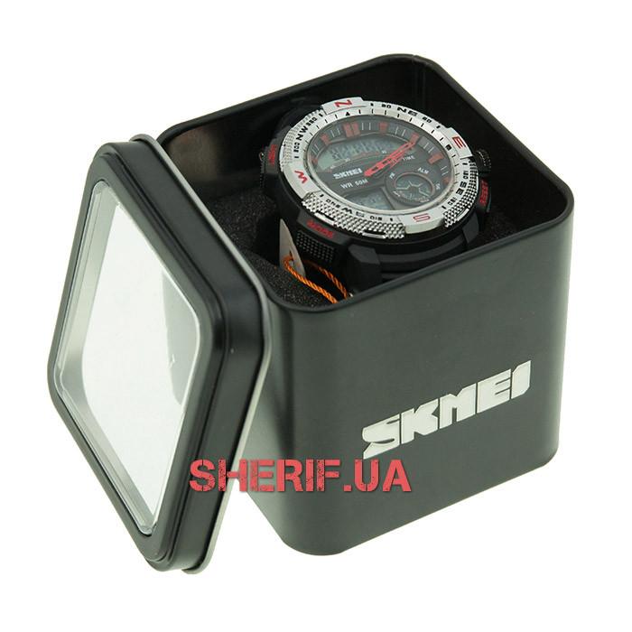 Часы Skmei 1109 Steel-Red BOX 1109BOXSTRD
