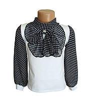Школьные блузки. Горошек. Код 229А.
