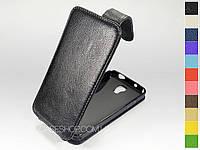 Откидной чехол из натуральной кожи для Samsung Galaxy J