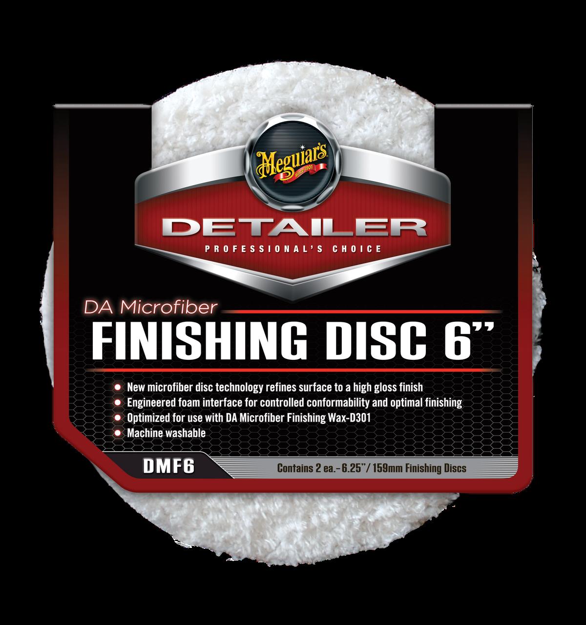 """Полірувальний круг микрофибровый фінішний - Meguiar's DA Microfiber Finishing Disc 6"""" 150 мм. білий (DMF6)"""