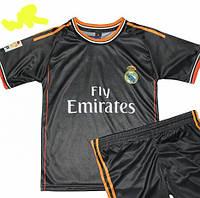 Детско-подростковая (7-15 лет) футбольная форма ''Роналду'' - ФК ''Реал'' (Мадрид)- черная, резервная