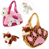 Детская плюшевая сумочка с Кошечкой D21754-55