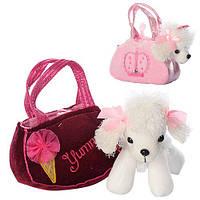 Детская плюшевая сумочка с Собачкой белый пудель D21911-07