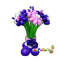 """Букет цветов из шаров """"Сиреневое утро"""""""