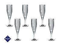 """Набор бокалов для шампанского Bohemia """"Карен"""" 180 мл Чехия 663-069"""