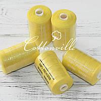 Нитки швейные 40s/2 прочные (1000Y) цвет лимон