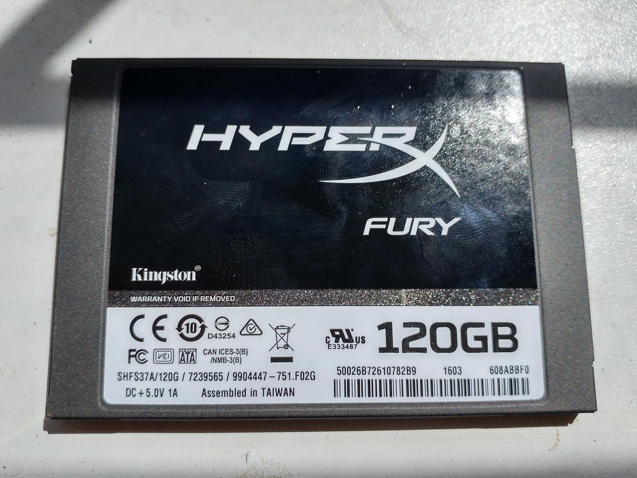 "SSD Kingston HyperX Fury 120GB 2.5"""