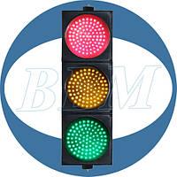 Светофор светодиодный 230В (красный+желтый+зеленый), 200 мм