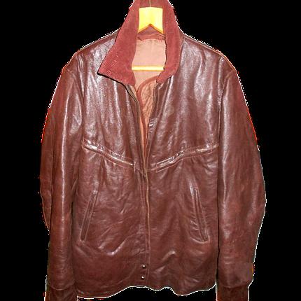 Куртка летная кожаная шевретовая ввс, фото 2