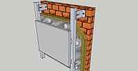 Фасадная алюминиевая подсистема под композитные кассеты
