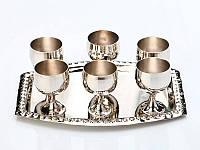 Подарочный набор латунных рюмок на подносе 878-034