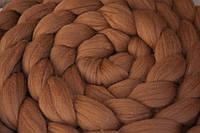 Коса из шерсти для фотосессии (лесной орех/беж)