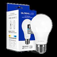 LED лампа GLOBAL A60 8W 4100K (яркий свет) 220V E27 (1-GBL-162-02)