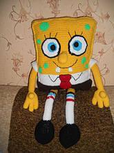 Вязаная игрушка Губка Боб=)