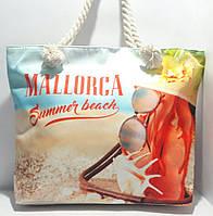 Пляжная текстильная летняя сумка для пляжа и прогулок Лето