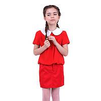 Блузка Klara (красная с белым воротником)