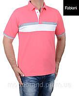 Футболка мужская поло Fabiani-4309 розовая