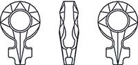 4876.Прозрачные Female Symbol