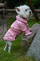 Плащ дождевик утепленный для собак - не промокаемый