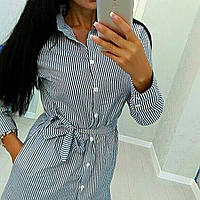 Полосатое платье-рубашка 49 КБ, фото 1
