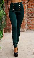 Элегантные лосины темно-зеленые