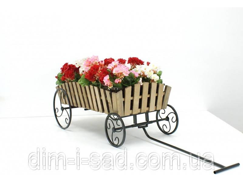 Подставки  кованые для цветов,Телега  Кантри