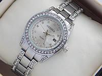 Женские кварцевые наручные часы Geneva с датой, серебристые
