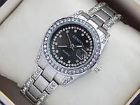 Женские кварцевые наручные часы Geneva с датой, черный циферблат