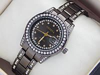 Женские кварцевые наручные часы Geneva с датой, черного цвета