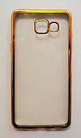 Чехол на Самсунг Galaxy A5 (2016) A510F ТПУ Прозрачный Золото, фото 1