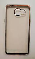 Чехол на Самсунг Galaxy A5 (2016) A510F ТПУ Прозрачный Серебро, фото 1
