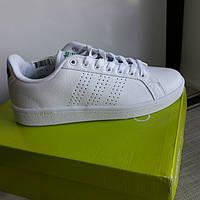 Кожанные кроссовки Adidas Neo Cloudfoam. р. 38-38,5. 25 см (получены из Америки)