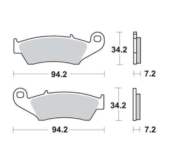 Комплект гальмівних колодок Lucas MCB669