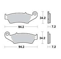 Комплект тормозных колодок Lucas MCB669, фото 1